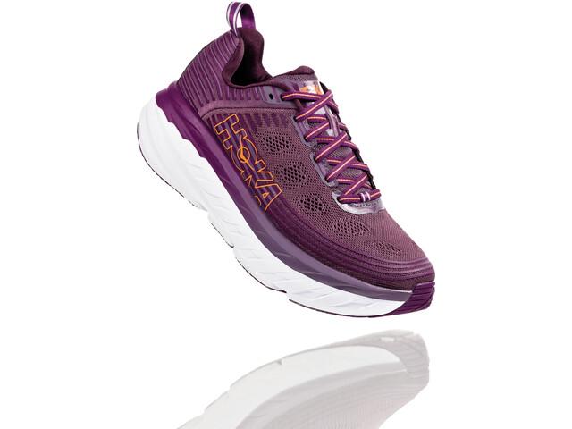 Hoka One One Bondi 6 Running Shoes Dame arctic dusk/grape juice